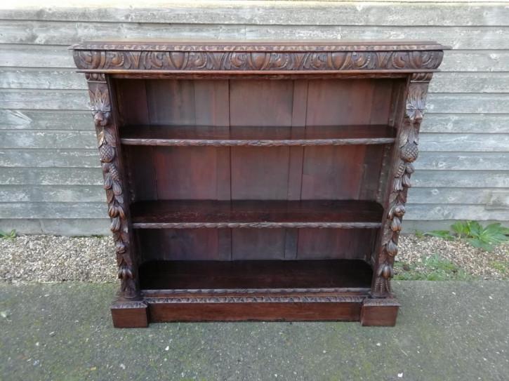 Viktorianisches antikes Eichen Bücherregal englisch ca 1860