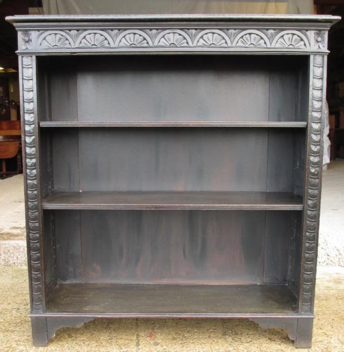 Viktorianisches antikes Eichen Bücherregal britisch ca 1880