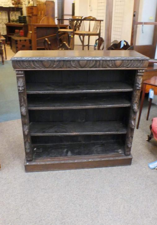 Antikes viktorianisches Eichen Bücherregal englisch ca 1850