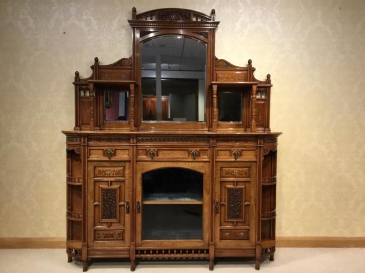 Englisches Nussbaum Sideboard original antik ca 1875