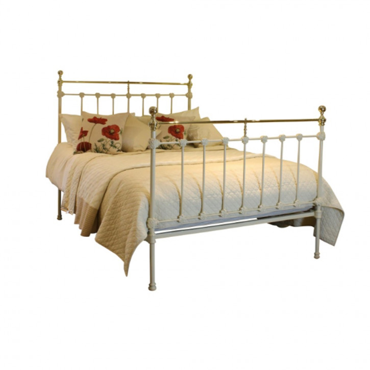 Viktorianisches Messing Gusseisen Bett englisch antik ca 1890