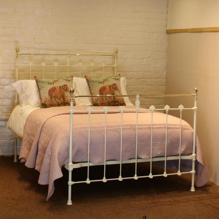 Viktorianisches antikes Doppelbett Messing Gusseisen englisch ca 1890