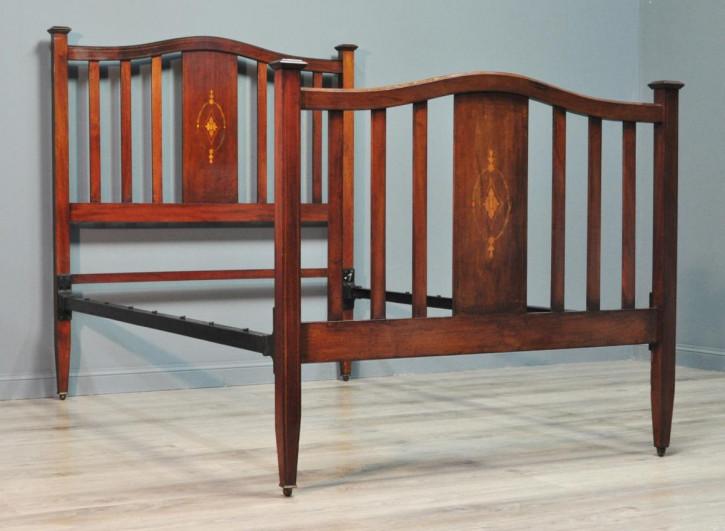 Edwardianisches britisches Mahagoni Bett original antik ca 1890