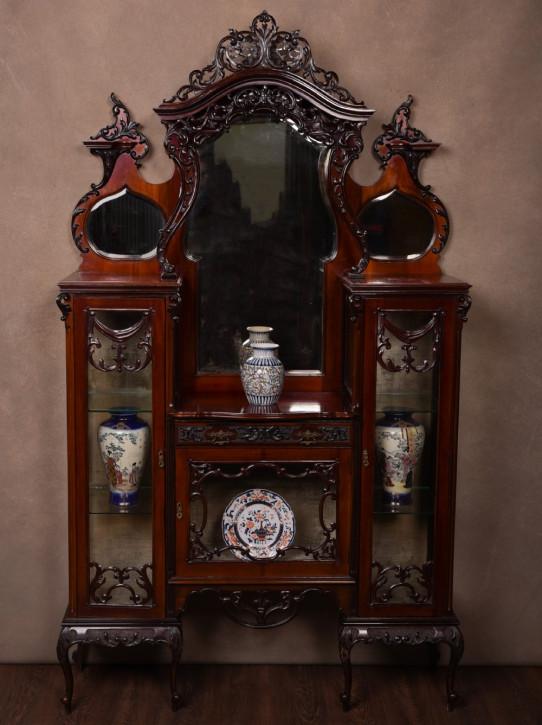 Edwardianische antike Mahagoni Vitrine Sideboard englisch ca 1890
