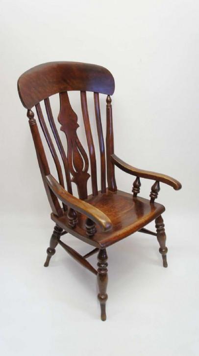 Viktorianischer antiker Windsor Chair Landhaus Buche 19. Jh