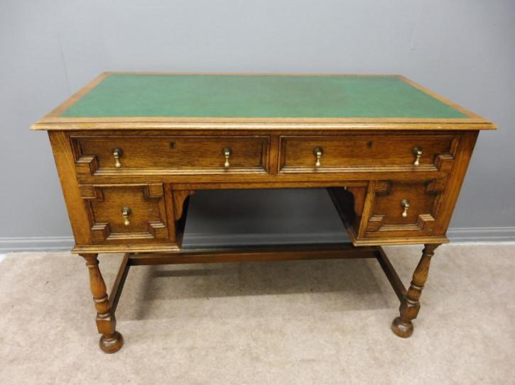 Antiker Eichen Schreibtisch britisch ca 1920