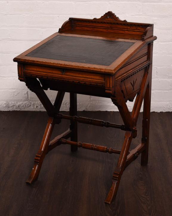 Antiker Arts & Crafts Daveport Schreibtisch Eiche englisch 19. Jh