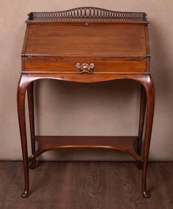 Edwardianischer antiker Mahagoni Sekretär Ladies Desk englisch ca 1890