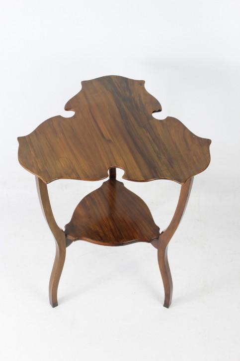 Edwardianischer Arts & Crafts Nussbaum Beistelltisch antik ca 1905