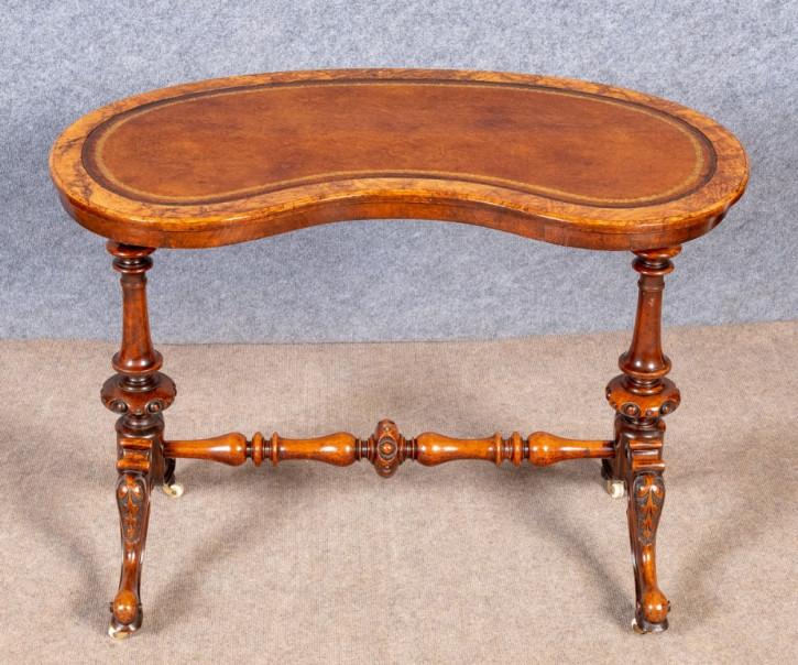 Viktorianischer antiker Nussbaum Beistelltisch Schreibtisch englisch ca 1880