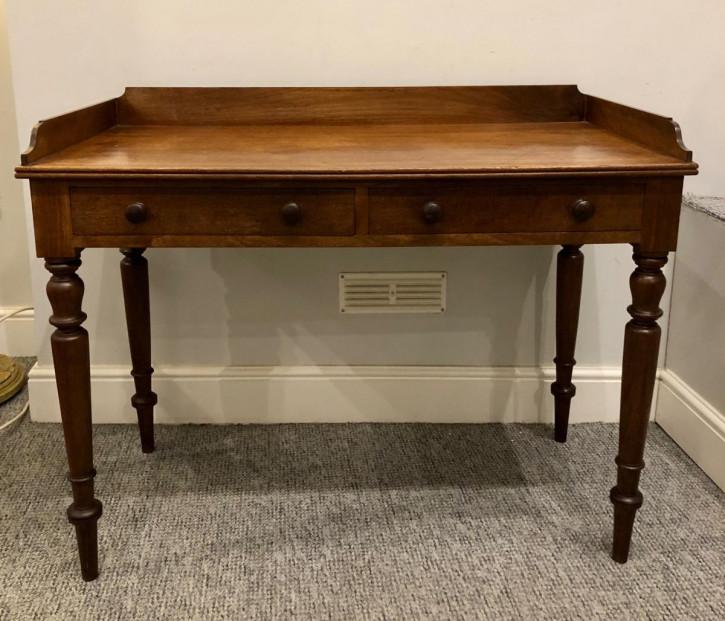 Viktorianischer antiker Beistelltisch Mahagoni englisch ca 1850