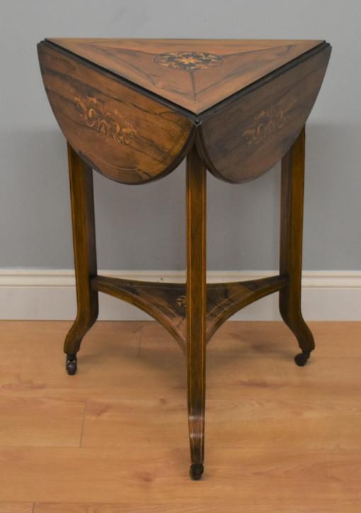 Viktorianischer Englischer Palisander Beistelltisch antik ca. 1860