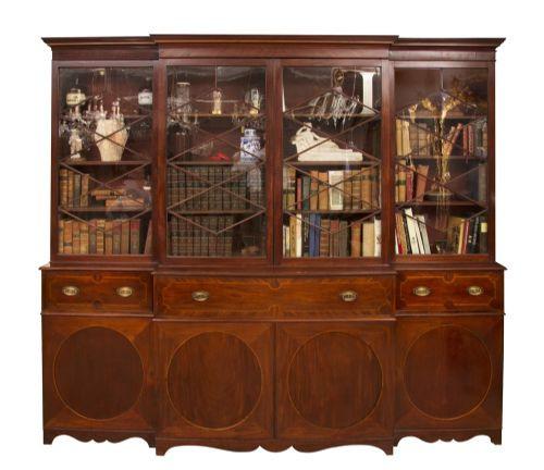 Georgianischer Mahagoni Bücherschrank antik britisch ca 1780
