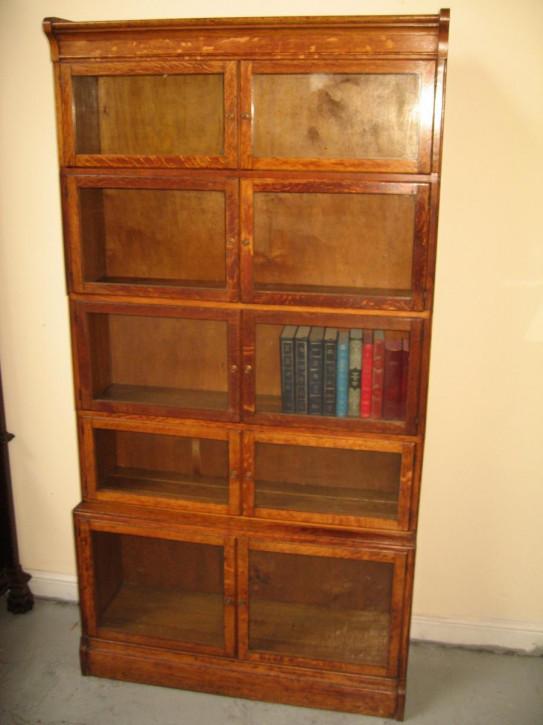 Antiker englischer Eichen Bücherschrank ca 1920