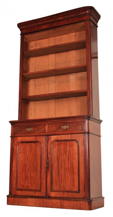 Antiker britischer Mahagoni Bücherschrank ca 1860
