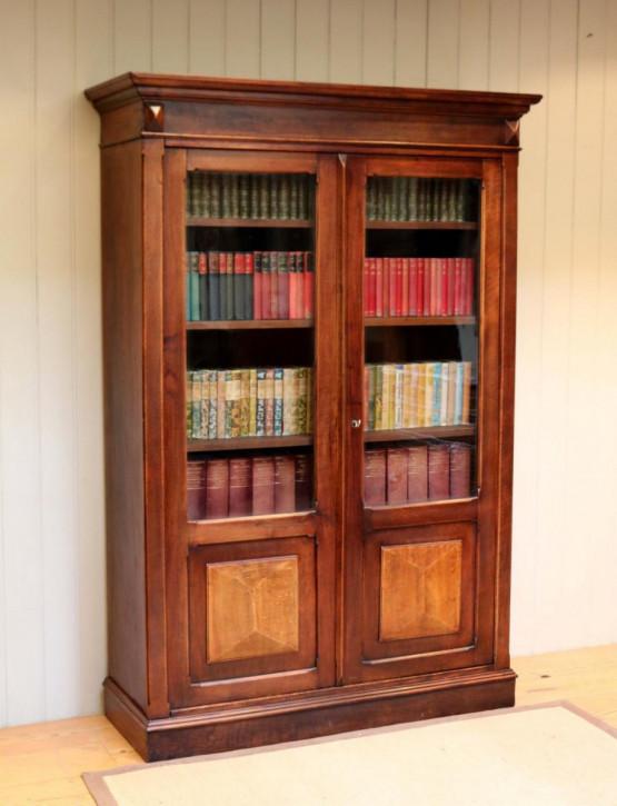 Französischer original antiker Nussbaum Bücherschrank ca 1890