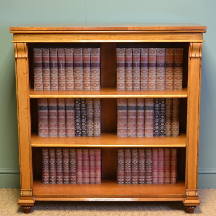 Viktorianisches antikes Nussbaum Bücherregal englisch ca 1880