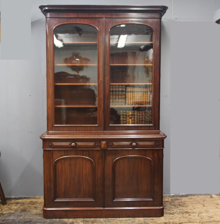 Viktorianischer antiker Mahagoni Bücherschrank englisch ca 1870