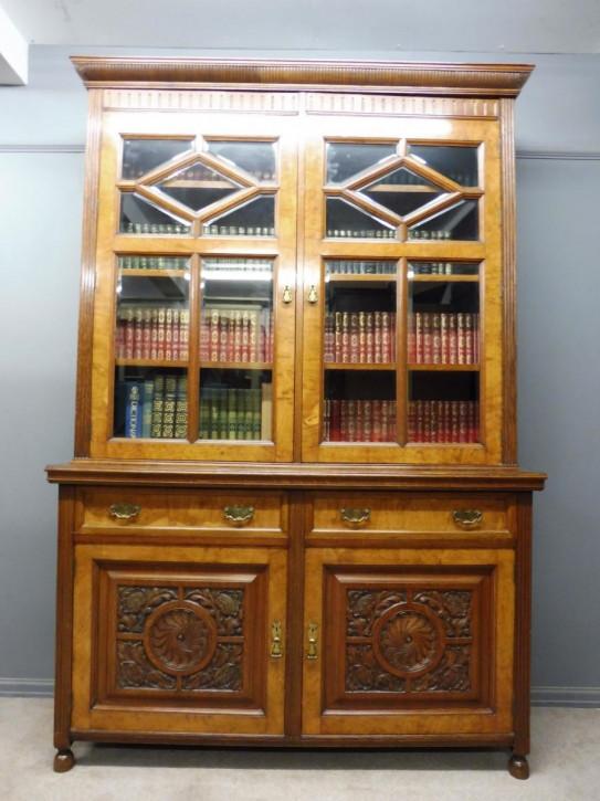 Antiker viktorianischer Bücherschrank Eiche englisch ca 1890