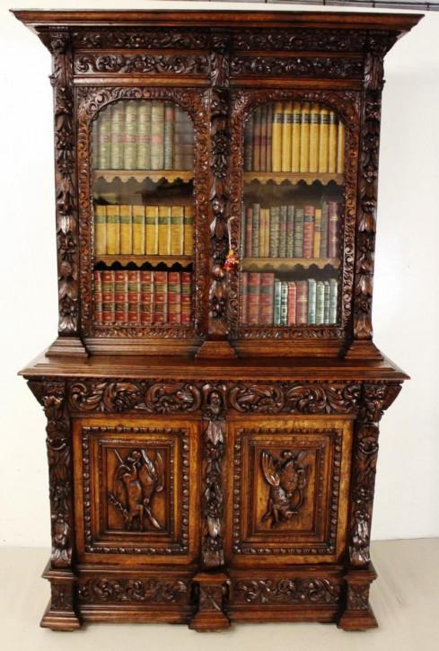 Antiker englischer Eichen Bücherschrank ca 1880