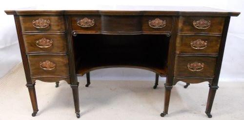 Edwardianischer Mahagoni Schreibtisch antik englisch ca 1890