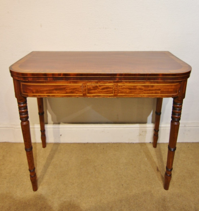 Antiker britischer Mahagoni Tisch Beistelltisch Spieltisch 19. Jh