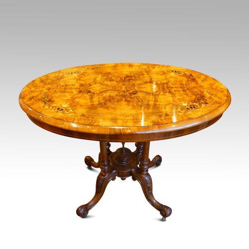Antiker viktorianischer Nussbaum Tisch englisch ca 1870