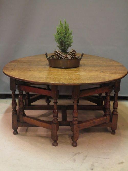 Antiker georgianischer Esstisch Massivholz britisch 18. Jh