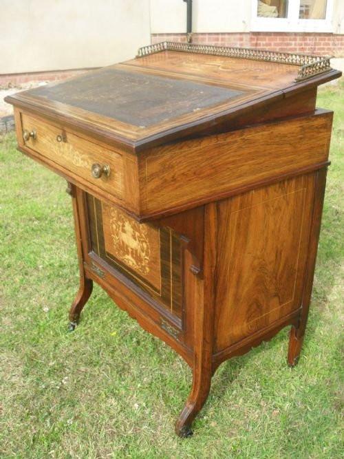 Antiker britischer Palisander Schreibtisch Damenschreibtisch 19. Jh