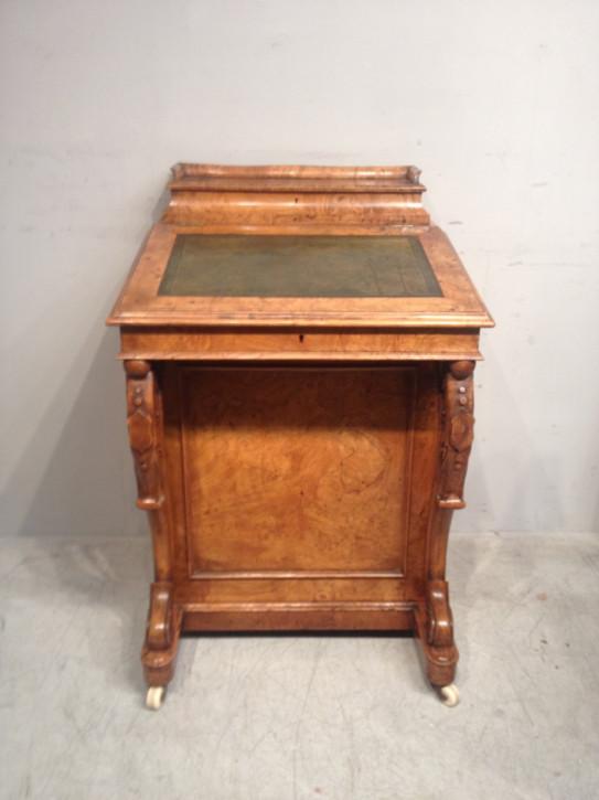 Antiker viktorianischer Davenport Schreibtisch Eiche ca 1850