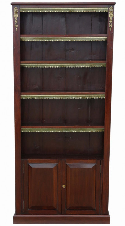 Viktorianisches antikes Mahagoni Bücherregal britisch ca 1890