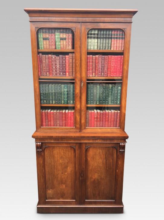Antiker Palisander Bücherschrank englisch ca 1850