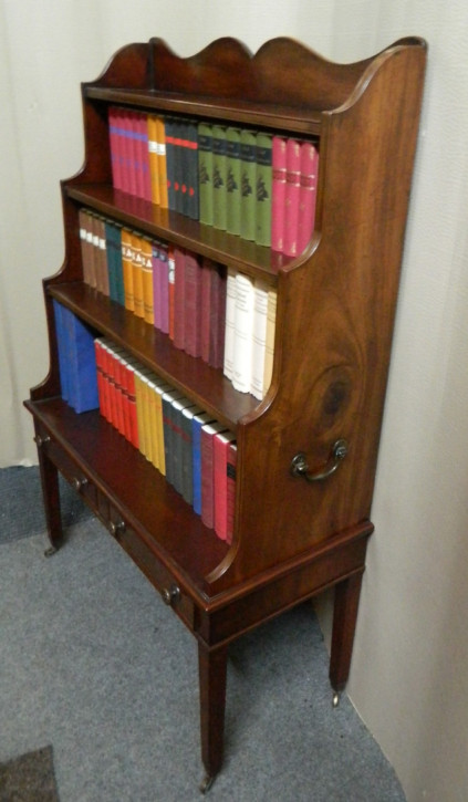 Antikes britisches Mahagoni Bücherregal ca 1880