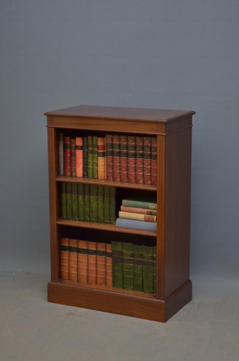 Edwardianisches antikes Mahagoni Bücherregal britisch ca 1900