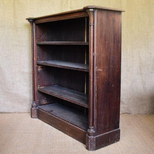 Britisches Bücherregal Eiche antik 19. Jh