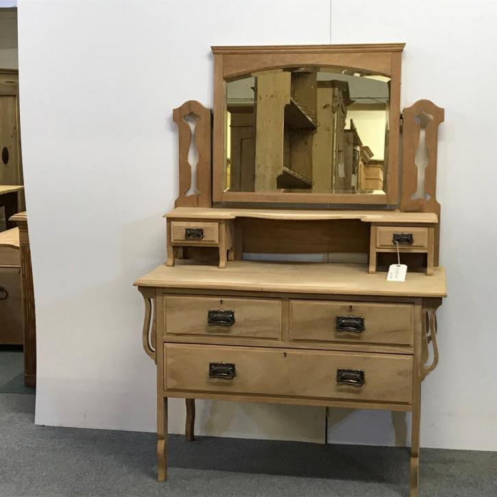 Edwardianisches antikes Nussbaum Sideboard Spiegelschrank britisch ca 1890