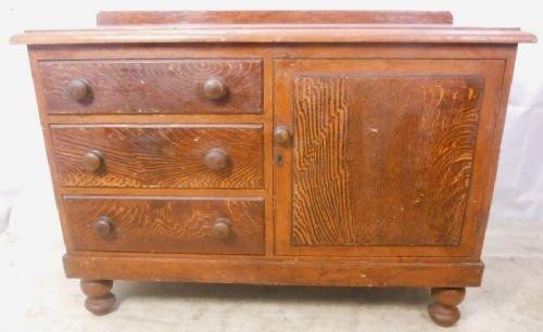Viktorianisches antikes Sideboard Kiefer Weichholz britisch ca 1880