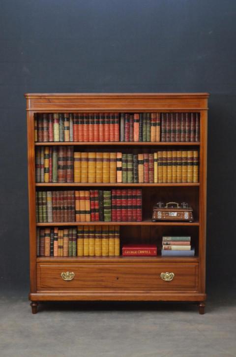 Französisches antikes Mahagoni Bücherregal ca 1850