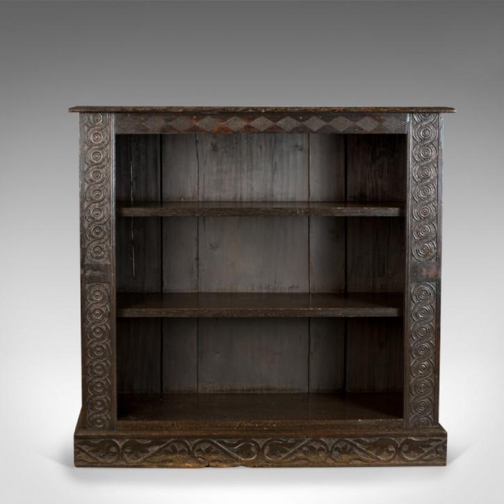 Antikes britisches Bücherregal Eiche ca 1880