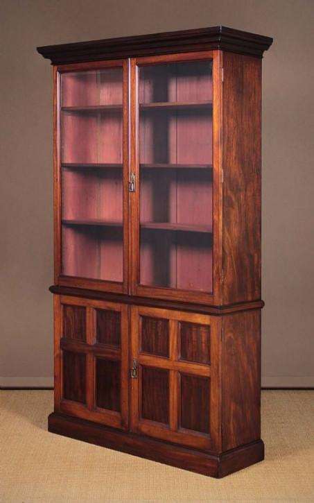 Antiker Mahagoni Bücherschrank britisch ca 1890