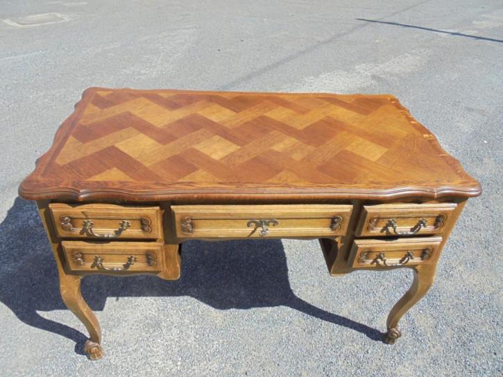 Antiker französischer Schreibtisch Massivholz ca 1900