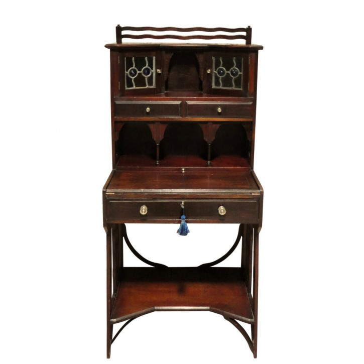 Arts & Crafts Mahagoni Schreibtisch antik britisch ca 1880