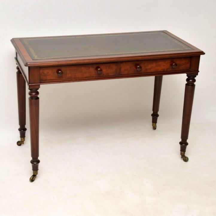 Antiker viktorianischer Mahagoni Schreibtisch britisch ca 1860
