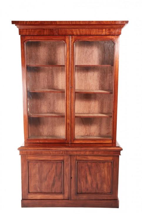 Viktorianischer Mahagoni Bücherschrank englisch antik ca 1860