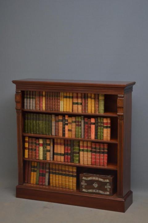 Viktoriansiches Nussbaum Bücherregal antik britisch ca 1880