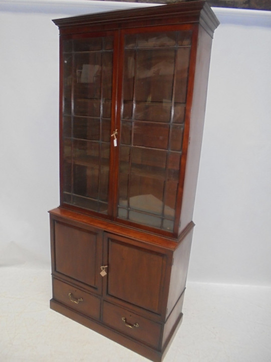 Antiker britischer Mahagoni Bücherschrank Regency ca 1820