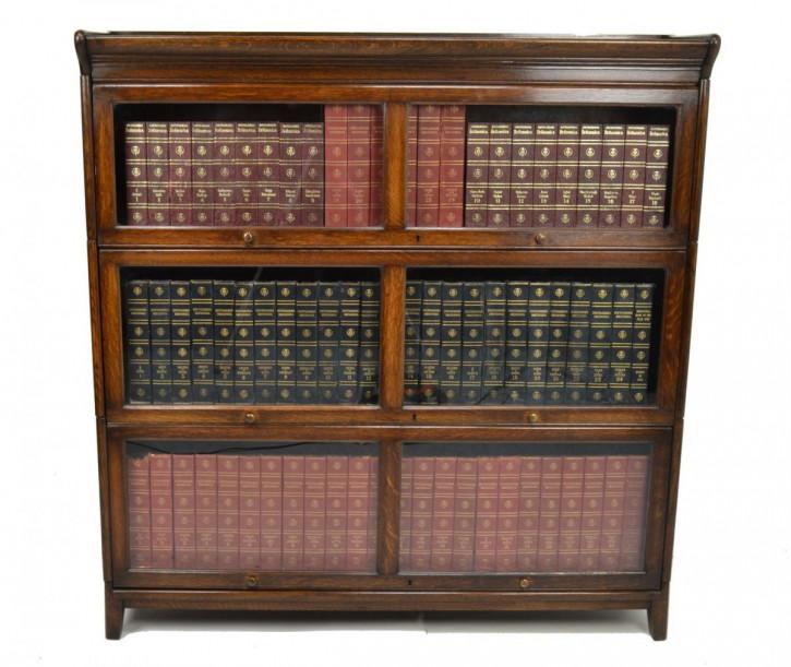 Antikes Globe Wernicke Bücherregal Eiche britisch ca 1900