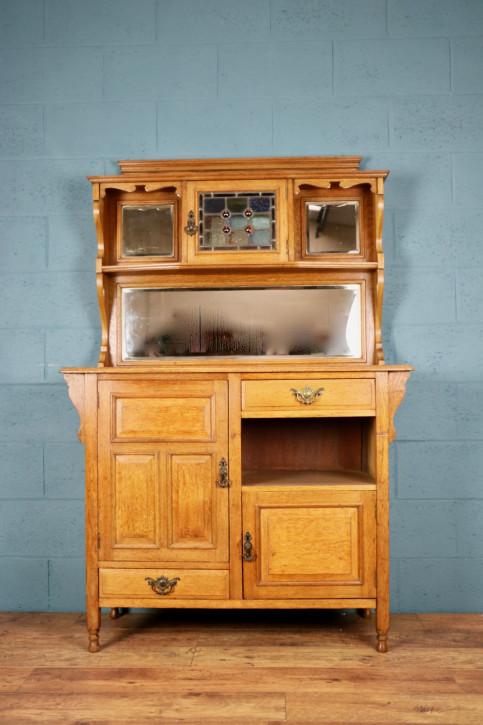 Antikes britisches Arts & Crafts Sideboard Eiche ca 1900