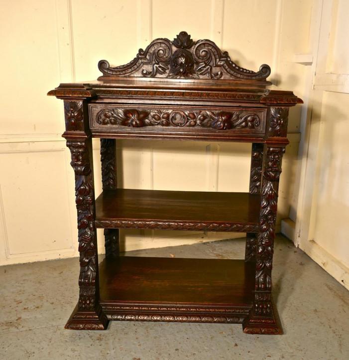 Viktorianisches Eichen Sideboard antik Buffettisch englisch 19. Jh