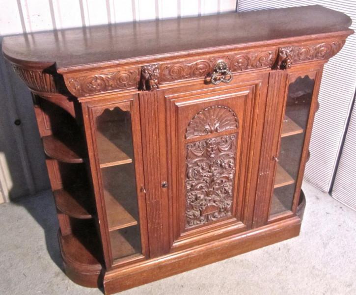 Antikes britisches Arts & Crafts Sideboard Eiche 1870